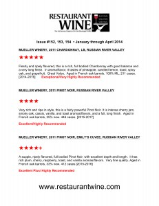 restauraunt wine review 2014