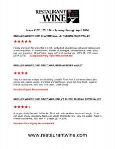 restauraunt wine review 2014