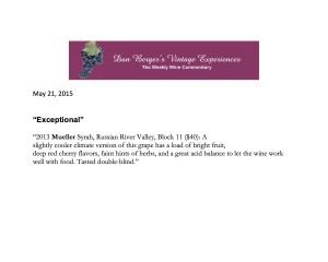 dan berger review 2013 syrah