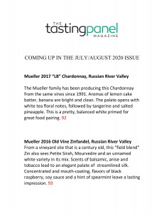 TASTING PANEL REVIEW 2020